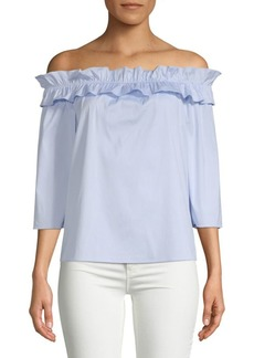 Saks Fifth Avenue Ruffle Off-The-Shoulder Top
