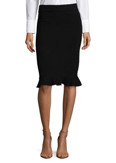 Saks Fifth Avenue BLACK Ruffle Trim Skirt