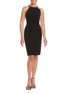 Saks Fifth Avenue BLACK Solid Cocktail Sheath Dress
