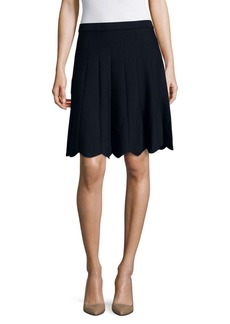 Saks Fifth Avenue BLACK Solid Cutout Skirt