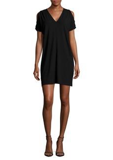 Saks Fifth Avenue BLUE Solid Shoulder-Cutout Dress