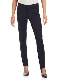 Saks Fifth Avenue BLACK Power Stretch Straight Leg Pants