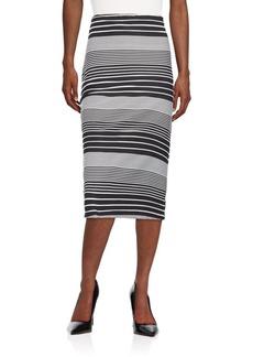 Saks Fifth Avenue Saks Fifth Avenue BLACK Printed A-Line Skirt ...