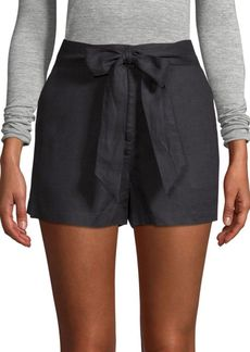 Saks Fifth Avenue Tie-Waist Linen Shorts