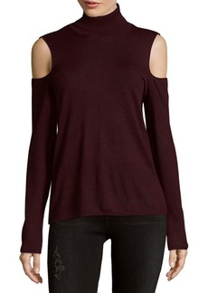 Saks Fifth Avenue Turtleneck Cold Shoulder Top