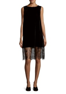 Saks Fifth Avenue BLACK Velvet Tank Dress