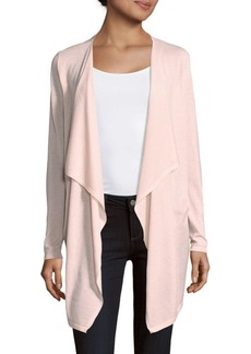Saks Fifth Avenue BLACK Wool-Blend Open Front Cardigan