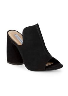 Saks Fifth Avenue Block Heel Suede Mules
