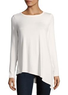Saks Fifth Avenue Asymmetrical Hem T-Shirt