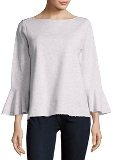 Saks Fifth Avenue BLUE Bell Sleeves Sweatshirt