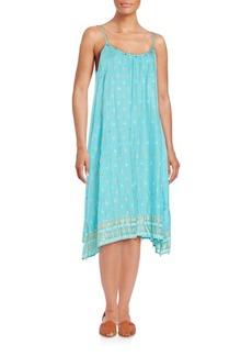 Saks Fifth Avenue BLUE Embellished Tank Dress