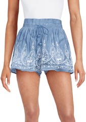 Saks Fifth Avenue BLUE Embroidered Drawstring Shorts