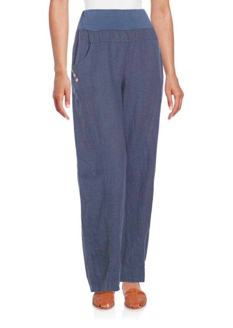 Saks Fifth Avenue BLUE Linen Pants
