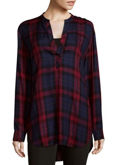 Saks Fifth Avenue BLUE Plaid Tunic Top