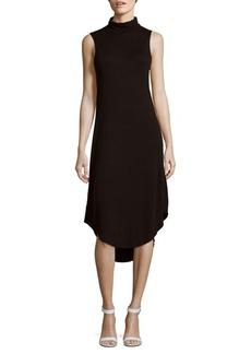 Saks Fifth Avenue BLUE Sleeveless Knit Hi-Lo Dress