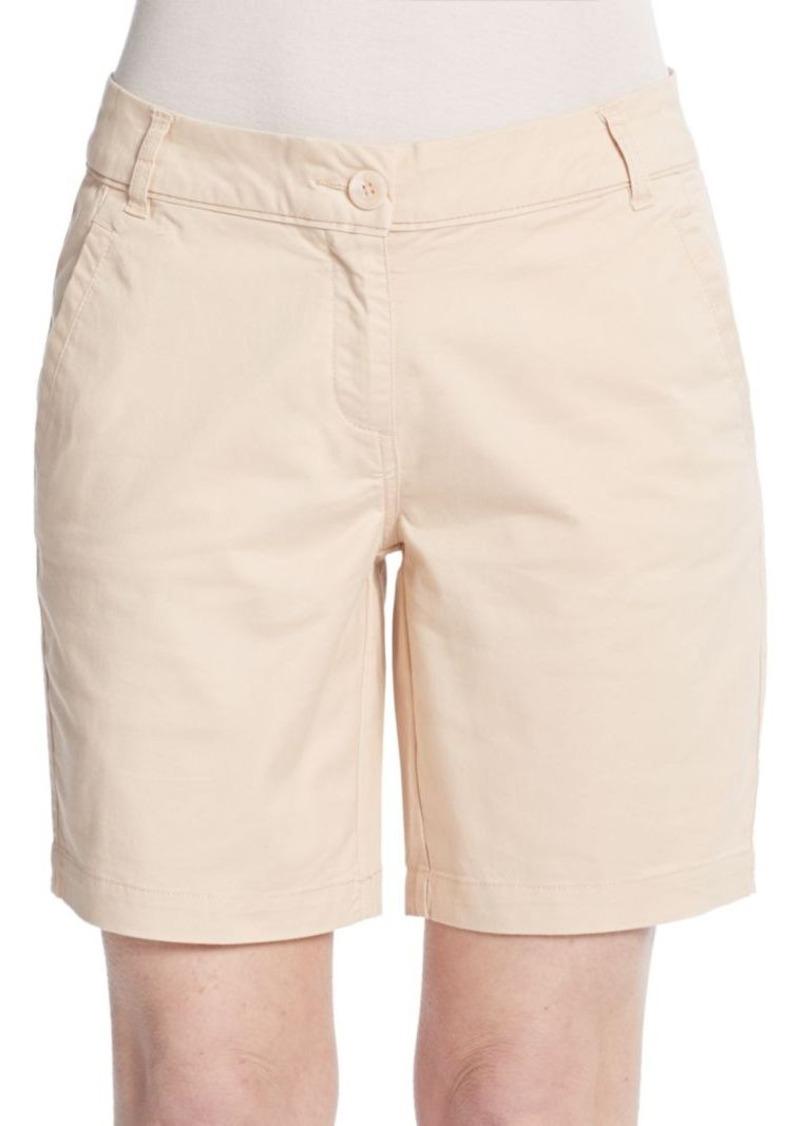 Saks Fifth Avenue BLUE Stretch Cotton Bermuda Shorts