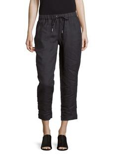 Saks Fifth Avenue BLUE Textured Linen Pants