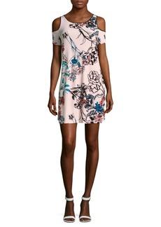 Saks Fifth Avenue Blush Floral-Printed Cold-Shoulder Dress