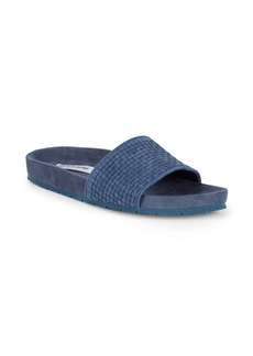 Saks Fifth Avenue Braided Suede Slides