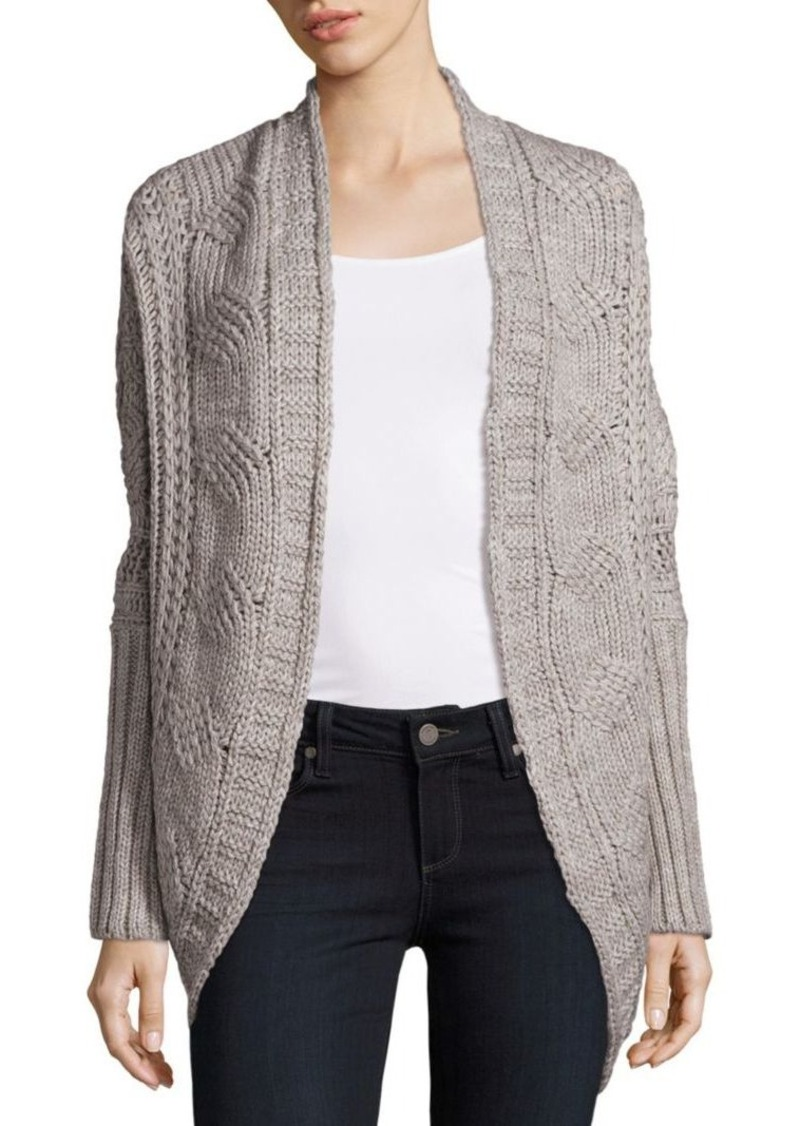 Saks Fifth Avenue Saks Fifth Avenue Cable Knit Open Front Cardigan ...