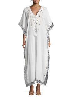 Saks Fifth Avenue Caftan-Sleeve Embellished Dress