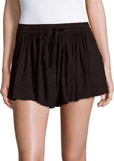Saks Fifth Avenue RED Calla Solid Flared Shorts