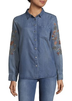 Saks Fifth Avenue Cameron Denim Button-Down Shirt
