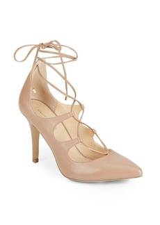Saks Fifth Avenue Cassidy Leather Lace-Up Pumps