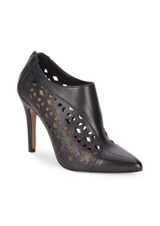 Saks Fifth Avenue Catherine Perforated Leather Booties
