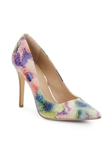 Saks Fifth Avenue Cathy Snake-Embossed Leather Pumps