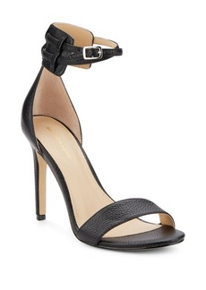 Saks Fifth Avenue Charlotte Leather Ankle Strap Sandals