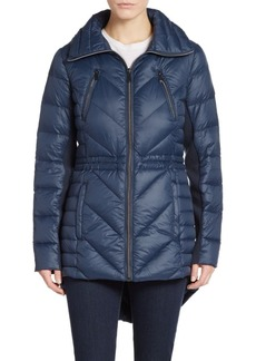 Saks Fifth Avenue Chevron-Quilted Nylon Coat