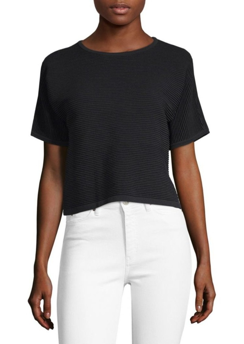 Saks Fifth Avenue Classic Ribbed Tee
