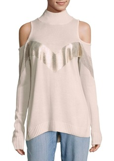 Saks Fifth Avenue Cold-Shoulder Knit Sweater
