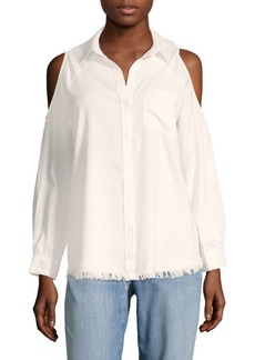 Saks Fifth Avenue Cold-Shoulder Shirt