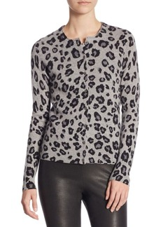 Saks Fifth Avenue COLLECTION Printed Button-Front Cashmere Cardigan