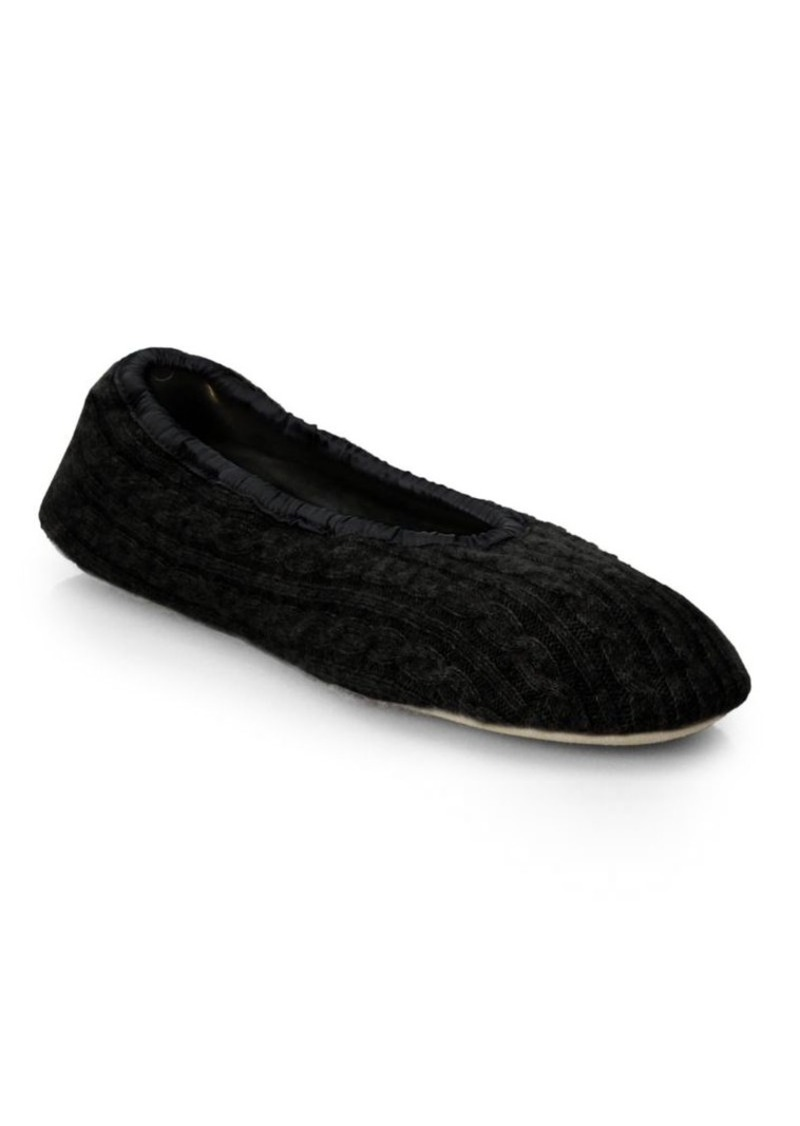 Saks Fifth Avenue Collection Cashmere Ballet Slippers