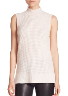Saks Fifth Avenue COLLECTION Cashmere Rolled Crewneck Shell