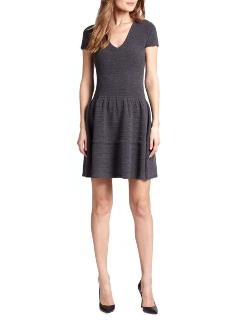 Saks Fifth Avenue Collection Cashmere Ottoman Fit-&-Flare Dress