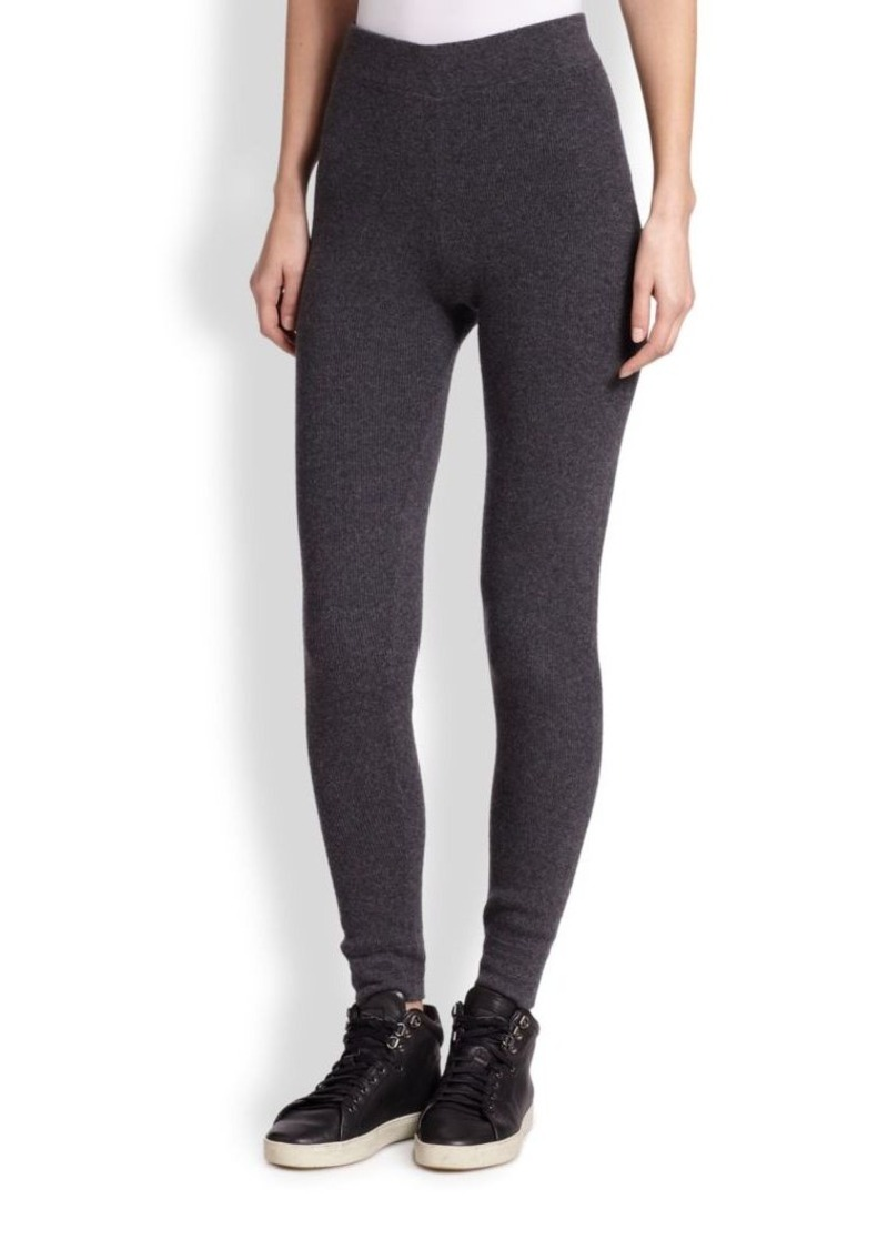 Saks Fifth Avenue Collection Cashmere Ribbed Leggings