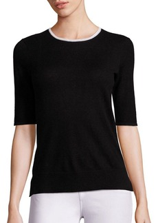 Saks Fifth Avenue Elbow Sleeve Cashmere Sweater