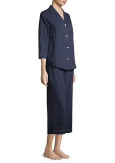 Saks Fifth Avenue COLLECTION Dot Cotton Pajama Set