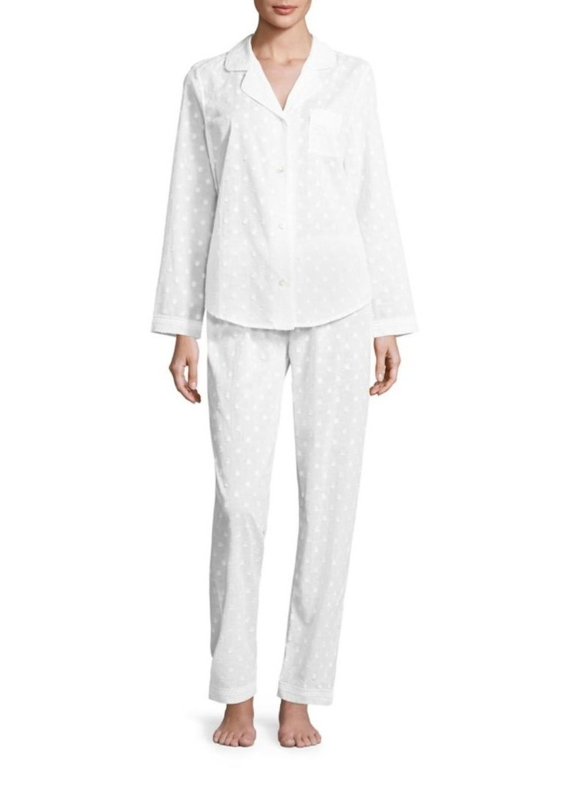 Saks Fifth Avenue Collection Dotted Jacquard Pajamas