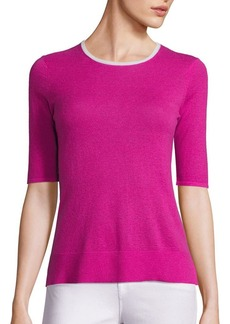 Saks Fifth Avenue COLLECTION Elbow Sleeve Cashmere Sweater