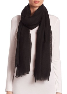 Saks Fifth Avenue COLLECTION Fringed Cashmere & Silk Scarf