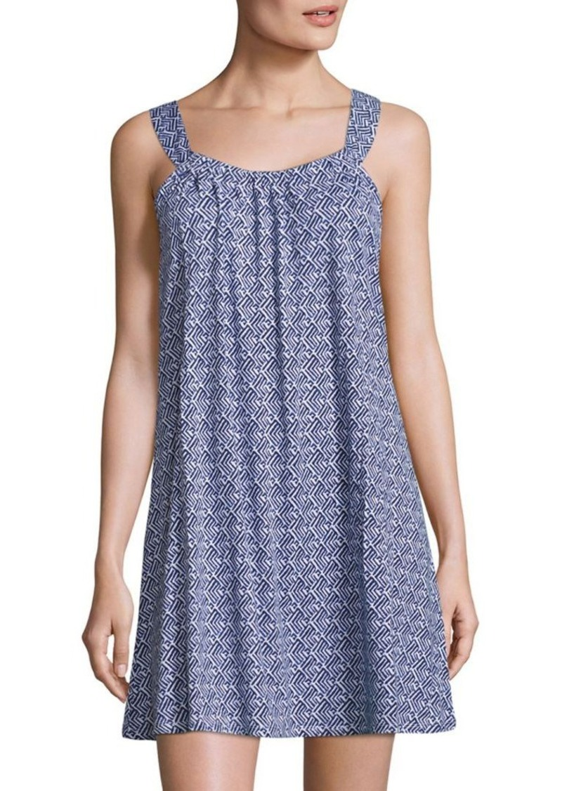 Saks Fifth Avenue COLLECTION Geometric Printed Knit Dress