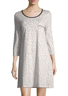 Saks Fifth Avenue COLLECTION Gnite Cotton Sleep Shirt