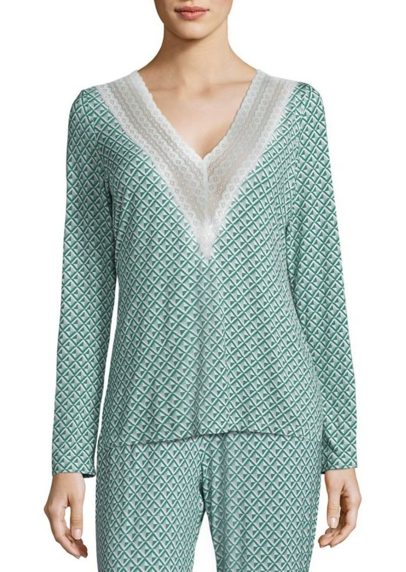 Saks Fifth Avenue Collection Lori Diamond-Printed Top
