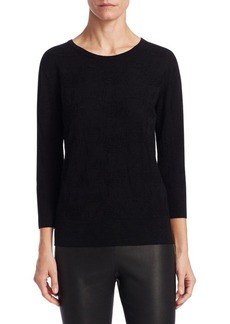 Saks Fifth Avenue COLLECTION Lurex Jacquard Sweater