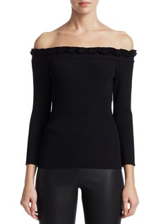 Saks Fifth Avenue COLLECTION Off-The-Shoulder Top